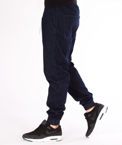 Illegal-Illegal Jogger Slim Guma Pocket Spodnie Dark Blue