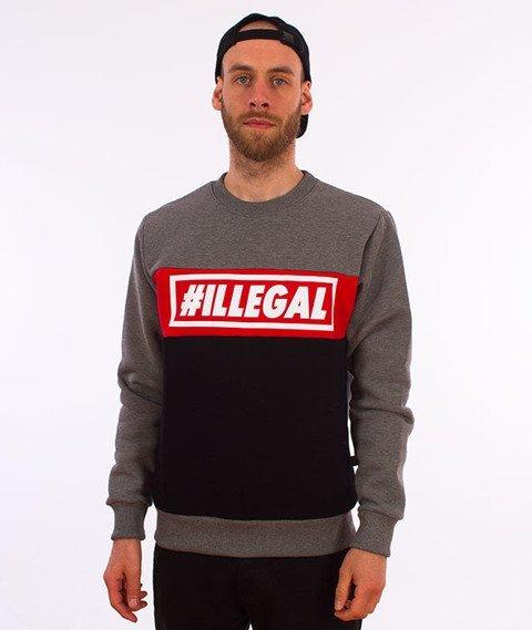 Illegal-Illegal Red Bluza Ciemny Szary/Czarny