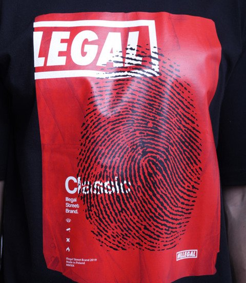 Illegal-Odcisk Red T-Shirt Czarny