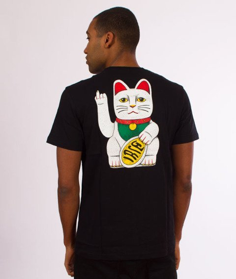 Iriedaily-Bye Bye Cat T-shirt Black