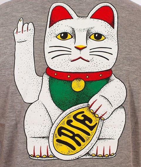 Iriedaily-Bye Bye Cat T-shirt Grey Melange