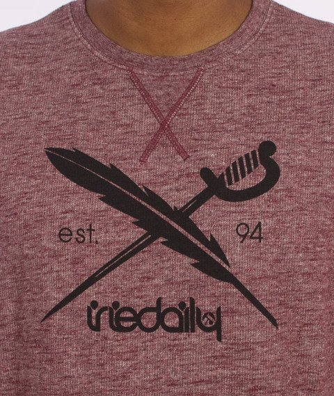 Iriedaily-Chamisso Logo Crew Bluza Bordeaux