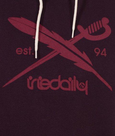 Iriedaily-Dad Flag Hoody Bluza Kaptur Purple Haze