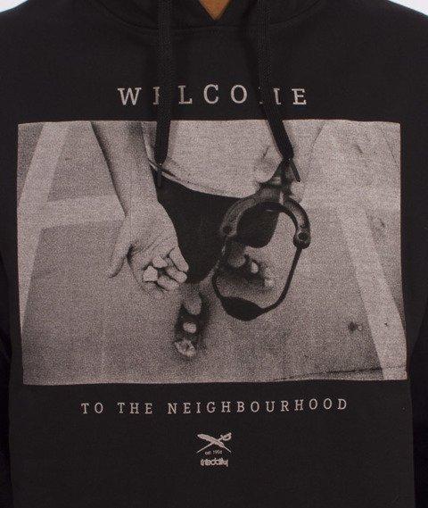 Iriedaily-Neighbourhood Hooded Bluza Kaptur Black