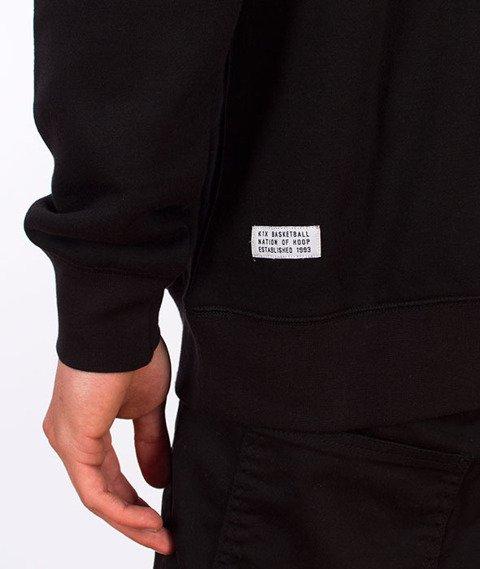 K1X-Glitch Logo Bluza z Kapturem Czarna