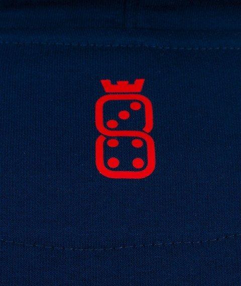 Lucky Dice-College Hoody 7 Bluza Kaptur Granatowy/Czerwony/Biały