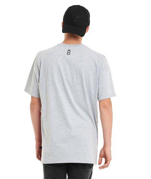 Lucky Dice-Cut Colour T-shirt Szary/Biały/Bordowy