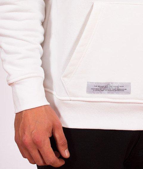 Lucky Dice-Hoodie Logo Bluza Biała/Złota