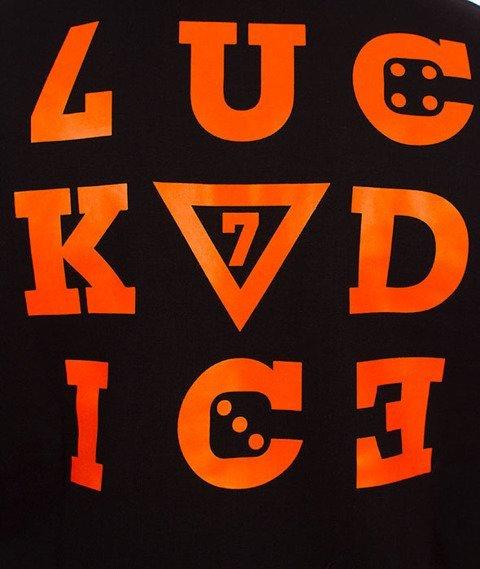 Lucky Dice-Hoodie Nine Letters Bluza Czarna/Pomarańczowa