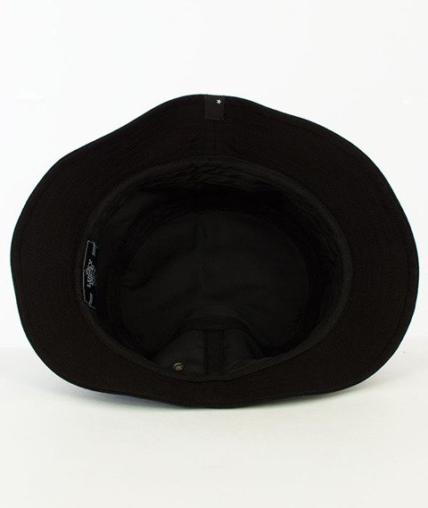 Lucky Dice-Label Bucket Hat Czarny