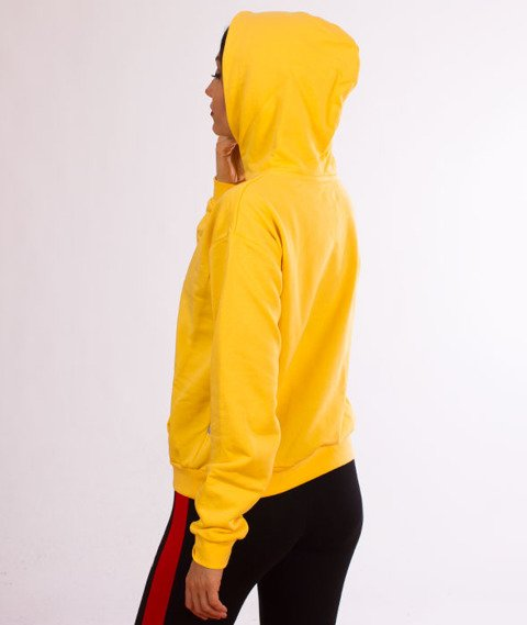 Lucky Dice-Logo Hoodie Bluza Damska Kaptur Zółta