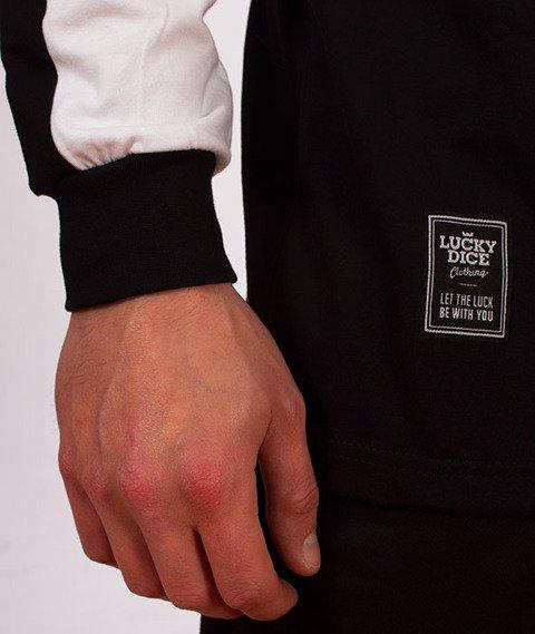 Lucky Dice-Stripe Cut Longsleeve Czarny/Biały
