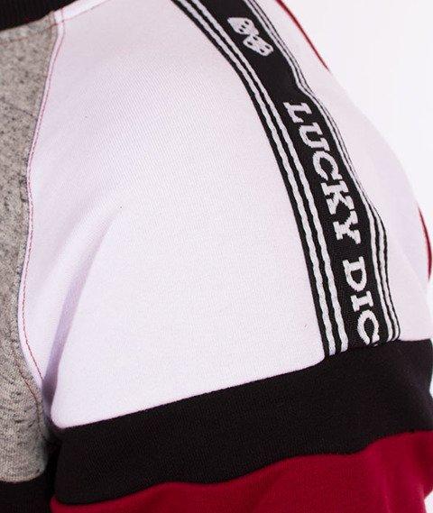Lucky Dice-Stripes Raglan Crewneck Bluza Bordowa
