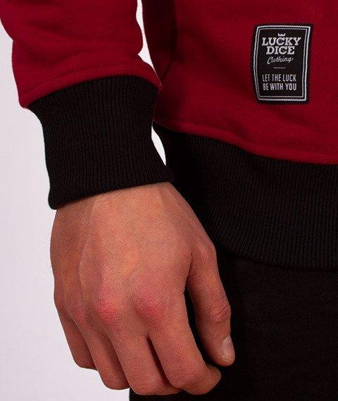 Lucky Dice-Stripes Raglan Crewneck Bluza Ruby