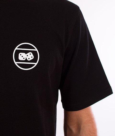 Lucky Dice-Triangle T-shirt Czarny
