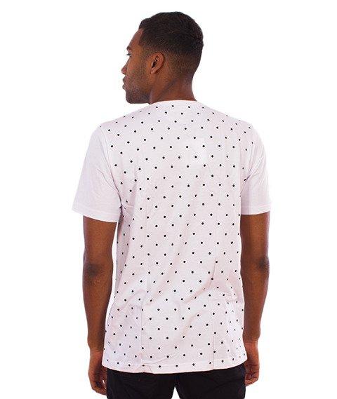 LuxxAll-Logo Dots T-Shirt Biały