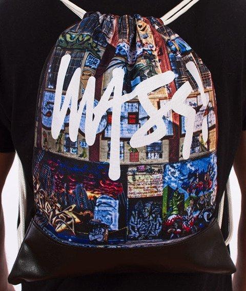 MASS-R.I.P. 5 Pointz Gym Bag Worek Czarny/Multikolor