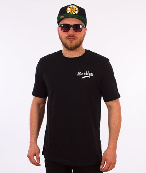 Majestic-Brooklyn Dodgers Tovey Mid Logo Carrier T-shirt Czarny