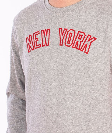Majestic-New York Yankees Crewneck Grey