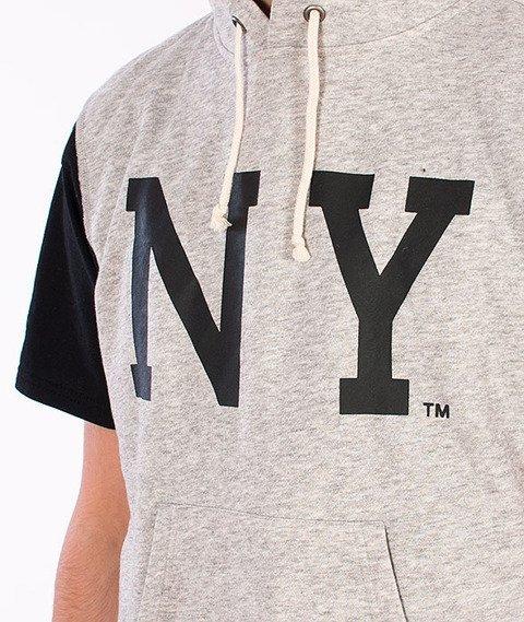 Majestic-New York Yankees Sleveless Hoodie Grey