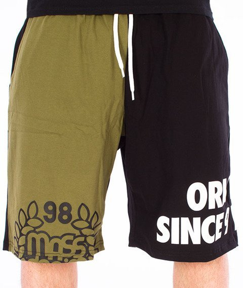 Mass-Baller Spodnie Dresowe Krótkie Czarne/Khaki