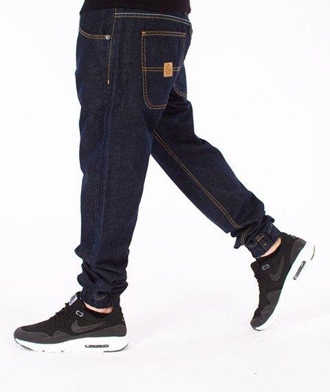 Mass-Base Denim Jogger Pants Spodnie Rinse Blue