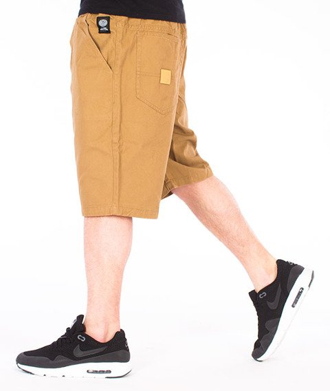 Mass-Base Pants Spodnie Krótkie Beżowe