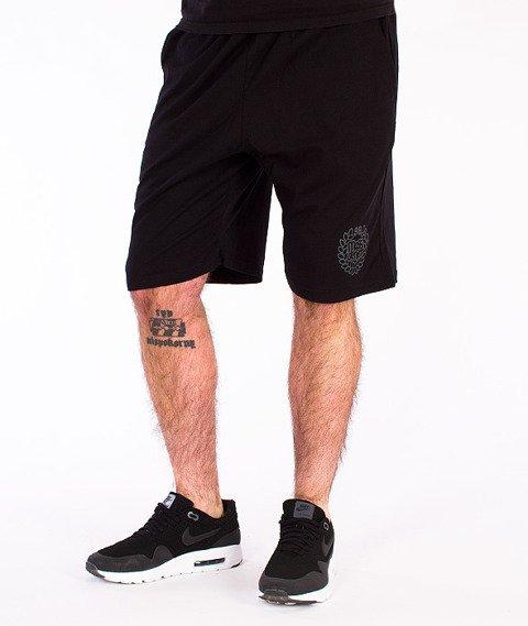 Mass-Base Spodnie Dresowe Krótkie Czarne/Grafitowe