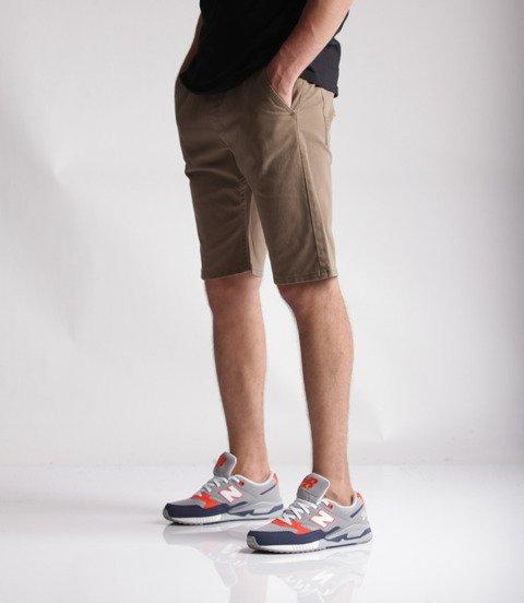 Mass Base Straight Fit Spodnie Krótkie Beige