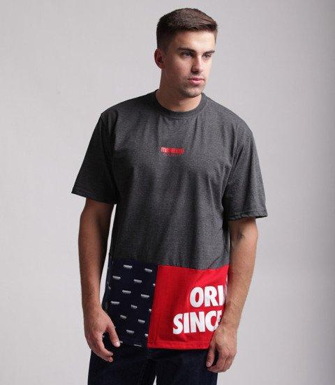 Mass Blockbuster T-Shirt Ciemny Szary