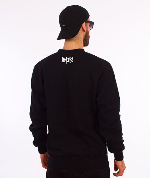 Mass-Burn Bitch Crewneck Bluza Czarna/Multikolor