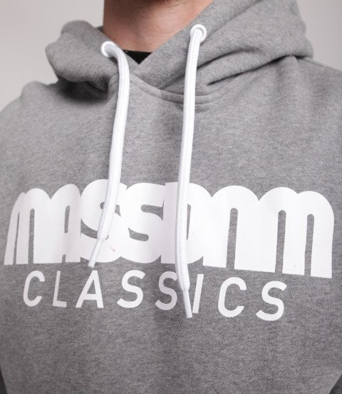 Mass-Classics Bluza Z Kapturem Szara