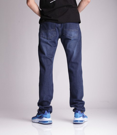 Mass DOPE Jeans Tapered Fit Dark Blue