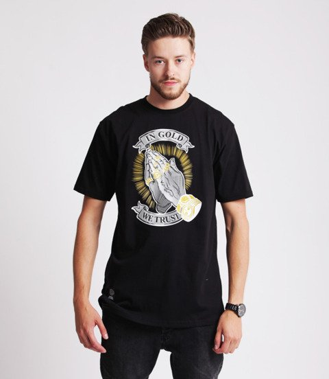 Mass IN GOLD WE TRUST T-Shirt Czarny