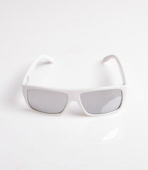Mass Icon Okulary Przeciwsłoneczne Biały/Srebrny