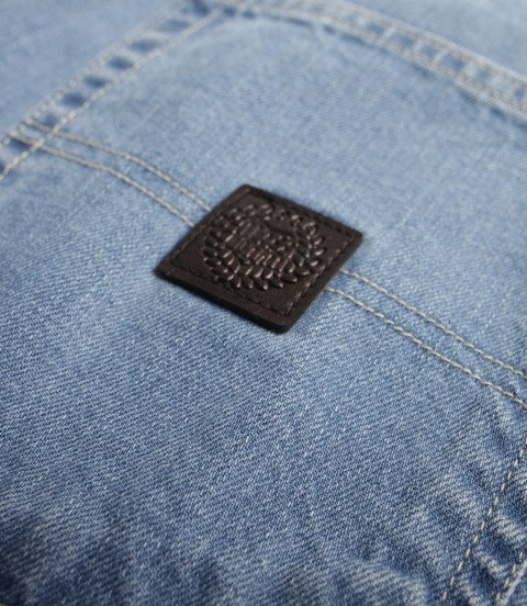 Mass Jeans Base Regular Fit Spodnie Krótkie Light Blue