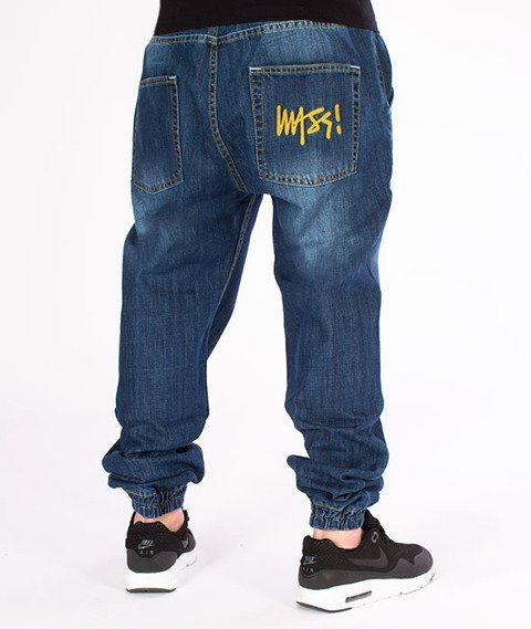 Mass-Jogger Jeans Signature Dark Blue