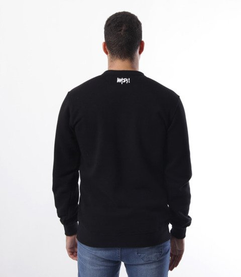 Mass-Mass- bluza Sweatshirt Crewneck Signature medium logo Czarna