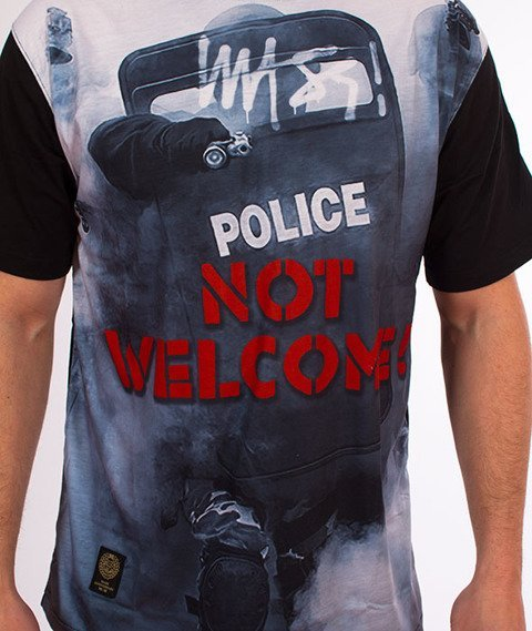 Mass-Not Welcome T-Shirt Czarny/Multicolor
