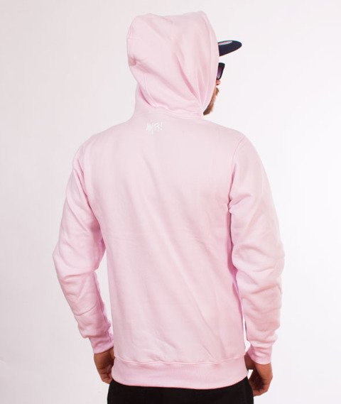 Mass-Signature Bluza Kaptur Light Pink
