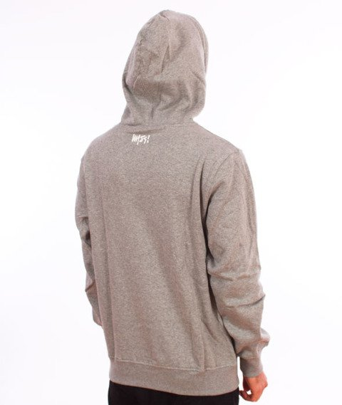 Mass-Signature Bluza Z Kapturem Light Heather Grey