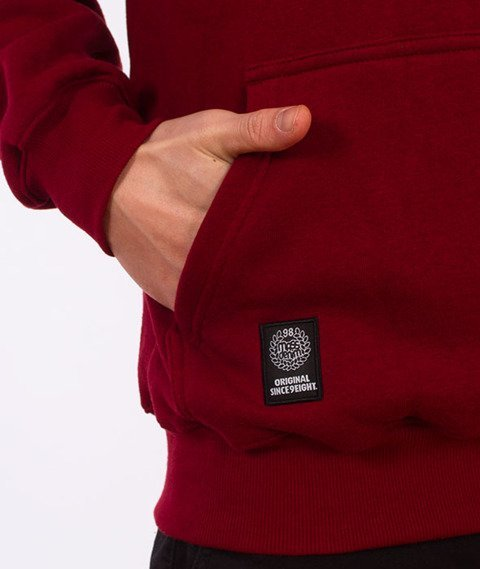 Mass-Signature Handmade Bluza Z Kapturem Bordowa