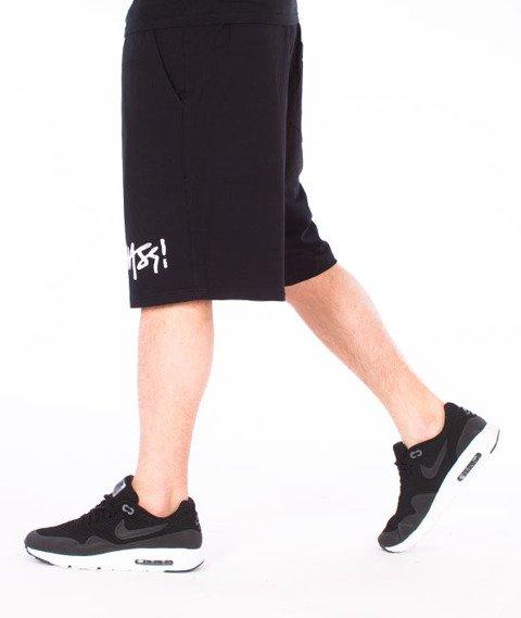 Mass-Signature Handmade Spodnie Dresowe Krótkie Czarne