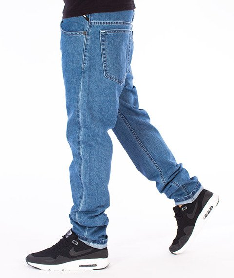 Mass-Signature Tapered Fit Jeans Spodnie Blue