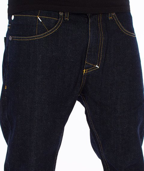 Mass-Signature Tapered Fit Jeans Spodnie Rinse Blue