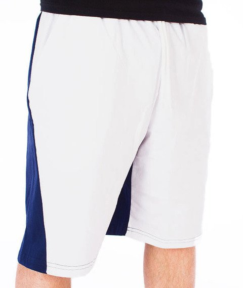 Mass-Sprint Spodnie Dresowe Krótkie Białe/Czerwone/Granatowe