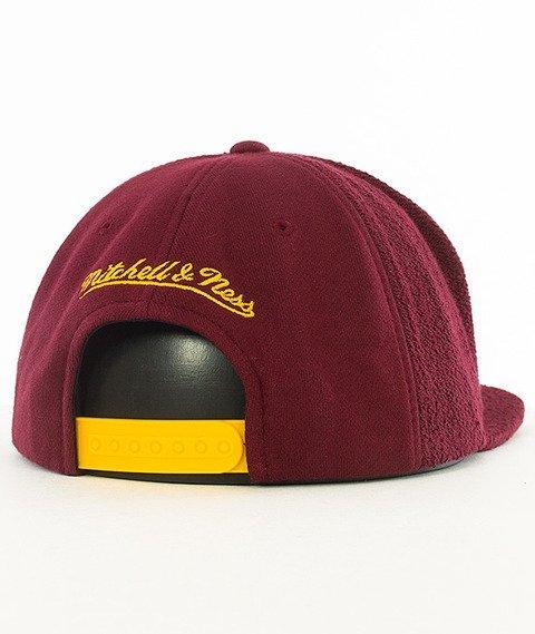 Mitchell & Ness-Cleveland Cavaliers Snapback Czapka VV32Z Bordowa