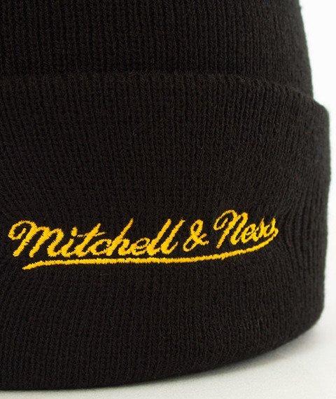 Mitchell & Ness-Los Angeles Lakers Team Logo Cuff Knit Czapka Zimowa Czarna