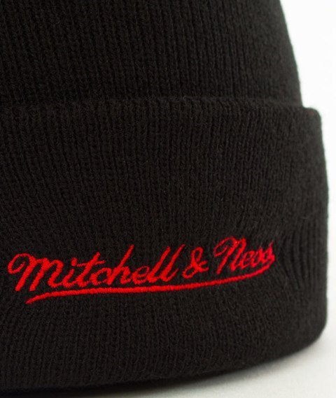 Mitchell & Ness-Miami Heat Team Logo Cuff Knit Czapka Zimowa Czarna