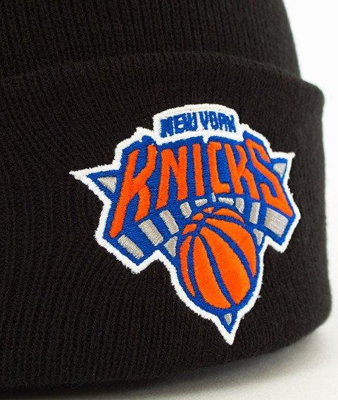 Mitchell & Ness-New York Knicks Team Logo Cuff Knit Czapka Zimowa Czarna